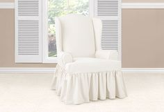 Sure Fit Slipcovers Essential Twill Wing Chair Slipcovers - wing chair