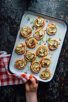 Eat Seasonal: Zucchini Pizzette   Simple Bites