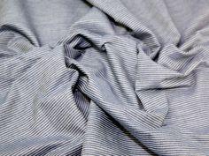 Stripe Print Cotton Chambray Denim Dress Fabric   Fabric   Dress Fabrics   Minerva Crafts