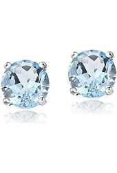 3 1/5 ct Natural Swiss Blue Topaz Button Stud Earrings in 14K Gold from $38.99 by Amazon BESTSELLERS