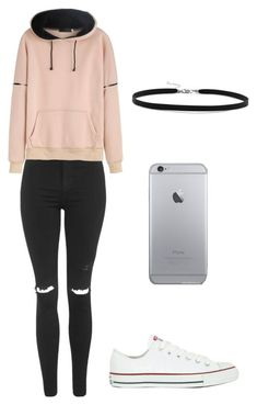 """Outfit"" by andreeadeeix12 ❤️ liked on Polyvore featuring Topshop, WithChic, Converse and BillyTheTree"