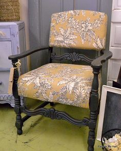 Graphite and yellow chair
