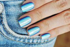 #nails #blue