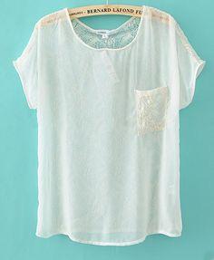 sheer lacy t-shirt
