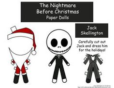 This halloween papercraft is Jack Skellington Dress Up, baesd on the Disney's film The Nightmare Before Christmas, the paper craft was created by Malindach Halloween Jack, Disney Halloween, Holidays Halloween, Jack Skellington, Christmas Paper, Christmas Love, Christmas Bedroom, Christmas Ornament, Christmas Ideas