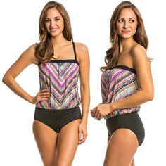 Our Ethnic Chevron Blouson One Piece is a must have! Click to shop.