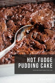 Hot Fudge Pudding Cake – Beyond the Butter Grab the ice cream, whipped cream, and some spoons because this HOT FUDGE PUDDING CAKE is LEGIT good! It's ooey gooey, chocolatey and soooo so easy to make! Homemade Chocolate, Chocolate Recipes, Food Cakes, Cupcake Cakes, Cupcakes, Cake Cookies, Chocolate Pudding Cake, Chocolate Cobbler, Hot Fudge Pudding Cake Recipe