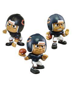 Look at this #zulilyfind! Chicago Bears Lil' Teammate Figurine Set #zulilyfinds