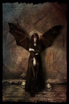 """We Are Not God Servants"" by greenfeed @ deviantart Tenerife, Angels And Demons, Fallen Angels, Macabre Art, Gothic Steampunk, Horror Art, Darth Vader, Deviantart, Statue"