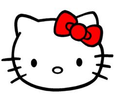 hello kitty cake template 300x267 Hello Kitty Party