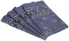 "Amazon.com - DII 100% Cotton, Oversized Basic Everyday 20x 20"" Napkin, Set of 4, Blue Bandana Print - Cloth Napkins #AmazonCart #DII #DesignImports"