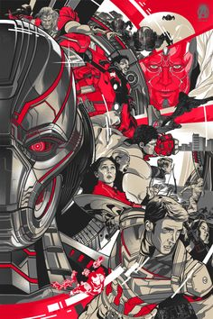 Avengers: Age Of Ultron Official Art Poster print set by Vincent Rhafael Aseo