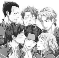 LOOK AT HOW LEVI SEEMS TO ONLY BE INTERESTED AND LOOKING AT EREN. LOOK.  this is going on my ships board I don't care