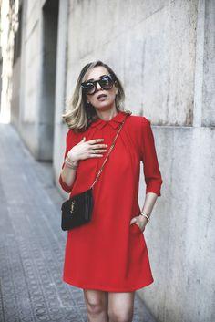 Spring red Dress