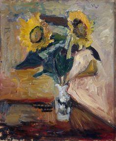 Vase of Sunflowers (1898), Hermitage Museum, St. Petersburg, Russia | Henri Matisse
