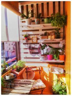 estanteria  para plantas ,hecha con palet reciclado