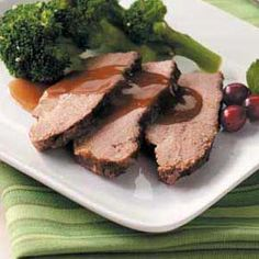 Brisket with Cranberry Gravy Recipe from Taste of Home -- shared by Noelle LaBrecque of Round Rock, Texas.