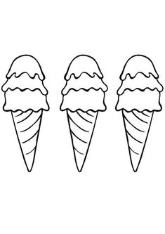 Cupcake Coloring Pages, Ice Cream Coloring Pages, Coloring Pages To Print, Coloring Pages For Kids, Coloring Books, Preschool Printables, Free Printables, Outline Drawings, Kids Prints