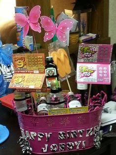 21st birthday gift basket