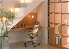 Minimalist Under Stair Home Office : Decorating Ideas For Under Stairs