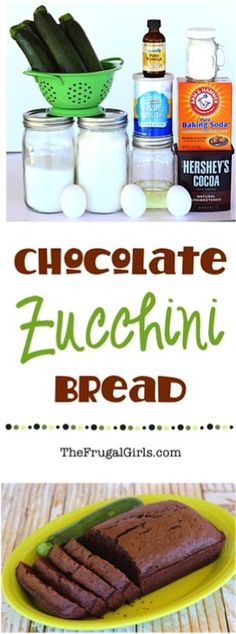 The perfect way to use some of the zucchini you've been growing in your garden, or just bake up an easy and delicious treat for the family! Extra loaves freeze well, too! Chocolate Zucchini Bread, Zucchini Bread Recipes, Banana Bread Recipes, Best Pumpkin Bread Recipe, Easy Biscuit Recipe, Muffins, Easy Banana Bread, Apple Bread, Quick Bread