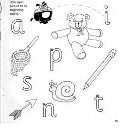 Jolly Phonics (S A T I P N) Homework Worksheets | Kindergarten ...