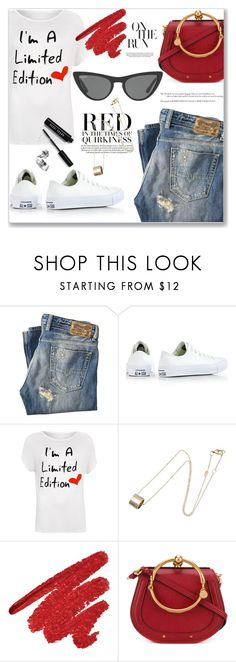 """""""My mood today"""" by jan31 ❤ liked on Polyvore featuring Diesel, Converse, WearAll, Gucci, Chloé, Bobbi Brown Cosmetics, Victoria, Victoria Beckham, casual, jeans and sneakers"""