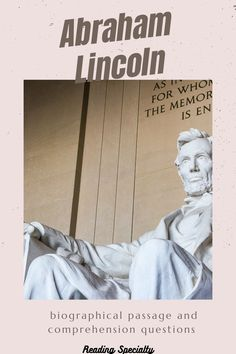 Abraham Lincoln was born February 12, 1809.. Read about the life of Lincoln. Use the questions in standardized test format to check comprehension and help students prepare for high-stakes testing Reading Comprehension Passages, Comprehension Questions, Example Of Biography, High Stakes Testing, Standardized Test, Middle School Grades, February 12, Biographies, Differentiation