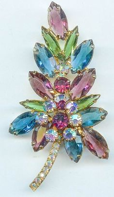 Sparkling Vintage JULIANA DELIZZA & ELSTER Wire Over Crystal from retrospectvintagejewelry on Ruby Lane