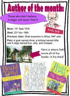 A great information poster about Roald Dahl. More