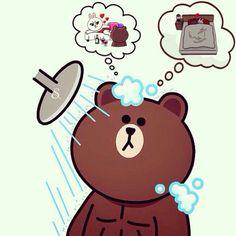 Ala,xole and thatś you 😂😂dirty mind 😂 Cony Brown, Brown Bear, Bear Gif, Emoji, Chibi Cat, Happy Birthday Flower, Cute Couple Cartoon, Bunny And Bear, Cute Love Gif