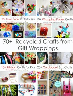 A Little Pinch of Perfect: 70+ Recycled Crafts from Gift Wrappings-Fun ways to craft with tissue paper, wrapping paper, ribbons, and cardboard boxes
