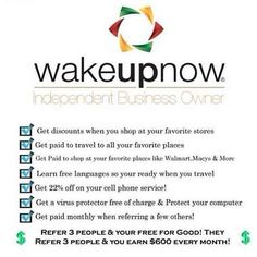 Join our WAKEUP now TEAM BUILD and You will NOT be left behind. Grow your business with us. http://vimeo.com/63915956 https://www.facebook.com/groups/647125481981628