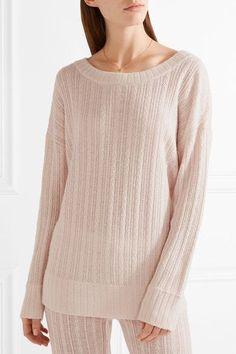Eberjey - Elsa Cable-knit Pajama Top - Beige - medium