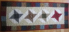 Friendship Star Table Runner by PumpkinPatchQuilts on Etsy, $45.00