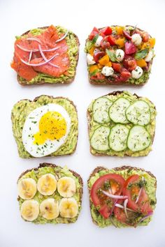 Easy and quick ways to top an avocado toast all with fresh ingredients for breakfast, lunch, or dinner! Easy and quick ways to top an avocado toast all with fresh ingredients for breakfast, lunch, or dinner! Healthy Recipes, Avocado Recipes, Healthy Snacks, Healthy Eating, Cooking Recipes, Seafood Recipes, Clean Eating, Easy Recipes, Diet Recipes