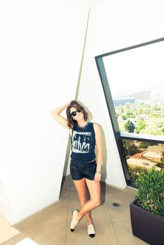 Nikki Reed is da woman The Coveteur, French Bohemian, Nikki Reed, Ootd, Ramones, Band Tees, Dress Me Up, Celebrity Photos, New Hair