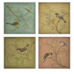 Beautiful Birds Wall Decor available at www.country-villa-decor.com