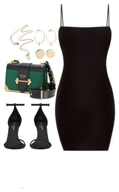 """Untitled #4116"" by magsmccray ❤ liked on Polyvore featuring Yves Saint Laurent, Prada, Givenchy and Yvonne Léon"