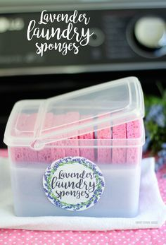 Lavender Laundry Sponges - reusable lavender scented fabric softeners. Just pop them in the dryer and your clothes come out soft and smelling lovely!