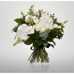 A classic bouquet of fresh white blooms