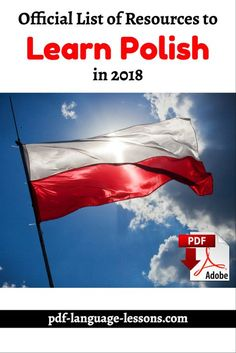Want to learn Polish in 5 minutes a day? Here are the audio lessons, video lessons, PDF books and programs that will help you. Polish Alphabet, Language Lessons, Foreign Language, Poland Culture, Learn Polish, Polish To English, Polish Words, Polish Language, Polish Folk Art