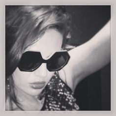 Fay in Hex #mycglife #olivergoldsmithsunglasses #hexagon #sunglasses #cool #blackandwhite #photobooth