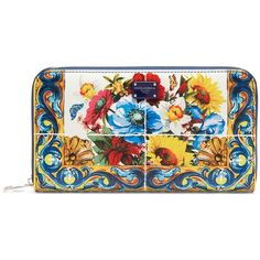 Maiolica Printed Textured-leather Cardholder - Blue Dolce & Gabbana hsPef