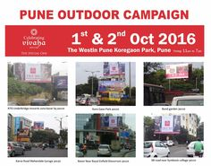 Pune Outdoor Campaign.     Get ready! Celebrating Vivaha is coming to #Pune on 1st and 2nd October 2016 at The Westin Pune Koregaon Park along with the finest #Clothing and #Jewellery.    Promote Your Brand. Book Your Stall Now. Limited Space Available, for Booking Contact at: 0981192345     #CelebratingVivaha #Designer #Dresses #Fashion #Bridal #Exhibition #Expo #WeddingExpo #Events #WeddingDresses #DesignerDresses #TheWestinPuneKoregaonPark #Mumbai