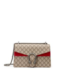 Gucci Dionysus GG Supreme Small Shoulder Bag, Red