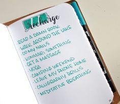 bullet journal list spread