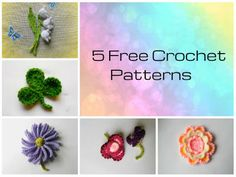 5 Free Crochet Flower Pattern Links
