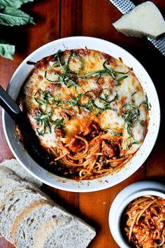 Baked Parmesan Spaghetti