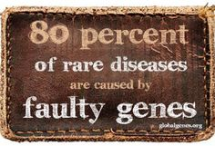 There are approximately 7,000 different types of rare diseases and disorders, with more being discovered each day. 30 million people in the United States are living with rare diseases. This equates to 1 in 10 Americans or 10% of the U.S. population. 80% of rare diseases are genetic in origin, and thus are present throughout a person's life, even if symptoms do not immediately appear.